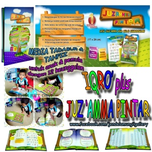 JUZ AMMA + IQRO PINTAR - Harga cash rp. 215.000. * bisa cash, arisan, deposit.