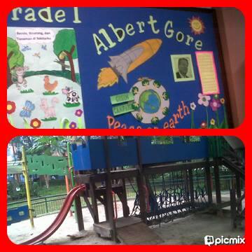 kelas2 yg dinamai dengan nama2 para tokoh & playground di halaman ged. SD