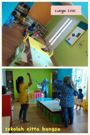 kelas yang sangat colourful & banjir mainan